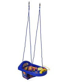 New Natraj Actvity Swing Teddy Bear Print - Blue
