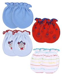 Ben Benny Mittens Pair of 4 - Red Blue