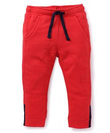 UCB Full Length Track Pants With Drawstrings - Red