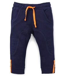 UCB Full Length Track Pants With Drawstrings - Navy