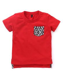 UCB Solid Color Half Sleeves T-Shirt - Red