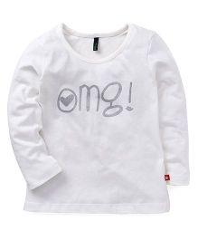 UCB Full Sleeves T-Shirt OMG Print - White