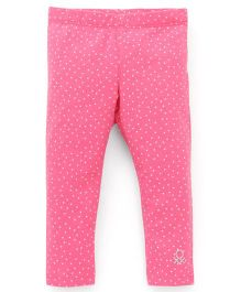 UCB Leggings Dots Print - Pink