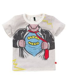 UCB Half Sleeves T-Shirt Super Hero Print - Multi Color