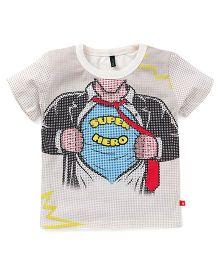 UCB Half Sleeves T-Shirt Super Hero Print - Multi Color