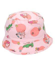 Babyhug Printed Round Cap - Pink
