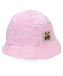 Babyhug Bucket Cap Teddy Patch - Pink