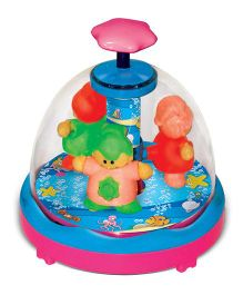 Toyzee Press N Spin Spinning Babies Toy For Baby - Multicolor