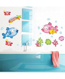 Syga Underwater Theme Fish Wall Sticker - Multicolor