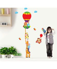 SYGA Height Measurement Jungle Theme Wall Stickers - Multicolor