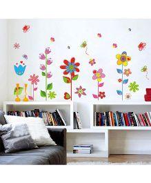 Syga Floral Pattern Wall Sticker - Multicolor
