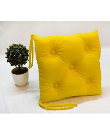 Stybuzz Velvet Chair Pad - Yellow