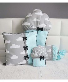 Stybuzz Cupcake Cushion Set Pack of 4 - Blue Grey
