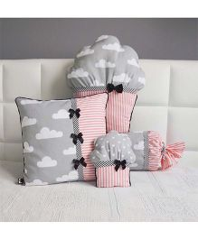 Stybuzz Cupcake Cushion Set Pack of 4 - Grey Peach