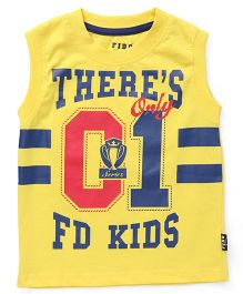 Fido Sleeveless T-Shirt 01 Print - Yellow