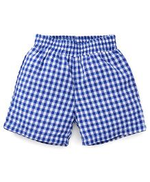 Spark Checks Shorts - Royal Blue