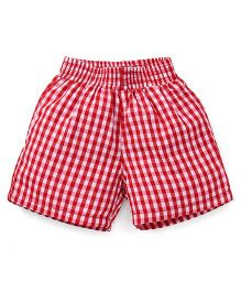 Spark Checks Shorts - Red