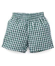 Spark Checks Shorts - Dark Green