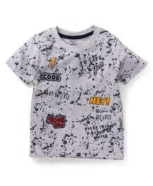 Smarty Half Sleeves T-Shirt Multi Print - Grey
