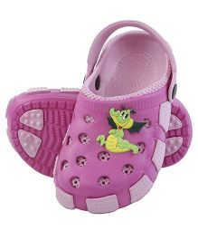 Imagica Clogs With Back Strap Crocodile Motif - Pink