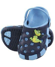 Imagica Clogs With Back Strap Crocodile Motif - Blue