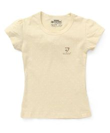 Proteens - Bodycare Half Sleeves Tee Dot Print - Light Yellow