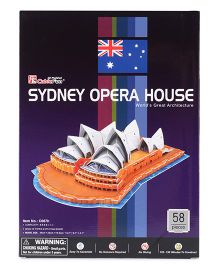 CubicFun Sydney Opera House Australia Puzzle Multi Color - 58 Pieces