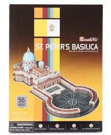 CubicFun St. Peter's Basilica Vatican City Puzzle Multi Color - 56 Pieces
