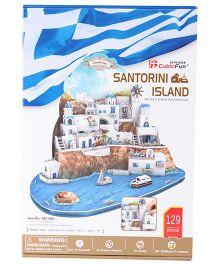 CubicFun Santorini Island Greece Puzzle Multi Color - 129 Pieces