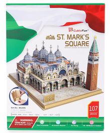 CubicFun St. Mark's Square Italy Puzzle Multi Color - 107 Pieces