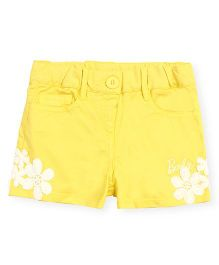 Barbie Shorts With Lace Patch - Yellow