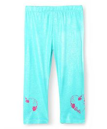 Barbie Shimmer And Print Leggings - Aqua Blue