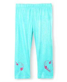 Barbie Shimmer And Print Leggings - Aqua Blue