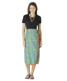 Morph Maternity Wrap Geometric Skirt - Sea Green