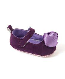 Pikaboo My Rose Prewalker Booties - Purple
