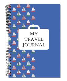 Little Jamun Travel Journal Boat Theme - Blue