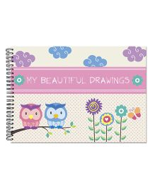 Little Jamun Owls Cover Sketch Book