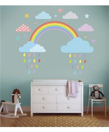 Little Jamun Rainbow Wall Sticker Multi Color - Large Size