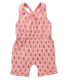 Spring Bunny Printed Jumpsuit - Pink