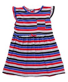 Playbeez Horizontal Stripe Dress - Multicoloured