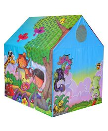 Playhood Jungle Story Tent House - Blue Multicolor