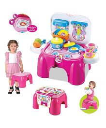 Saffire 2 In 1 Carry On Kitchen Play Set With Lights & Sound - Pink