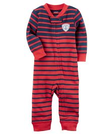 Carter's Cotton Zip Up Footless Sleep & Play - Red