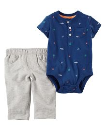 Carter's 2 Piece Bodysuit & French Terry Pant Set - Navy Grey