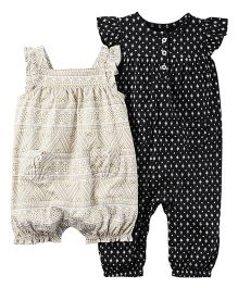 Carter's 2-Pack Babysoft Coveralls - White And Black