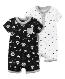 Carter's 2-Pack Babysoft Coveralls - Black And White