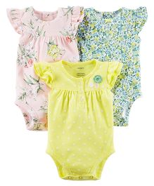 Carter's 3-Pack Bodysuits - Yellow Pink Green