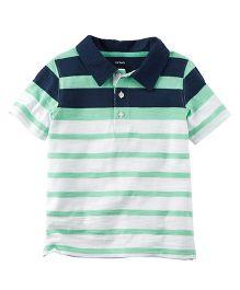 Carter's Striped Slub Jersey Polo