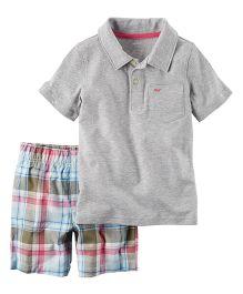Carter's 2-Piece Polo & Plaid Short Set