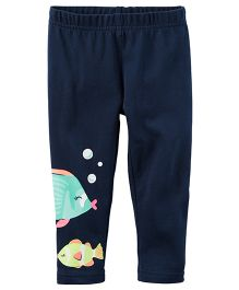 Carter's Fish Capri Leggings - Navy